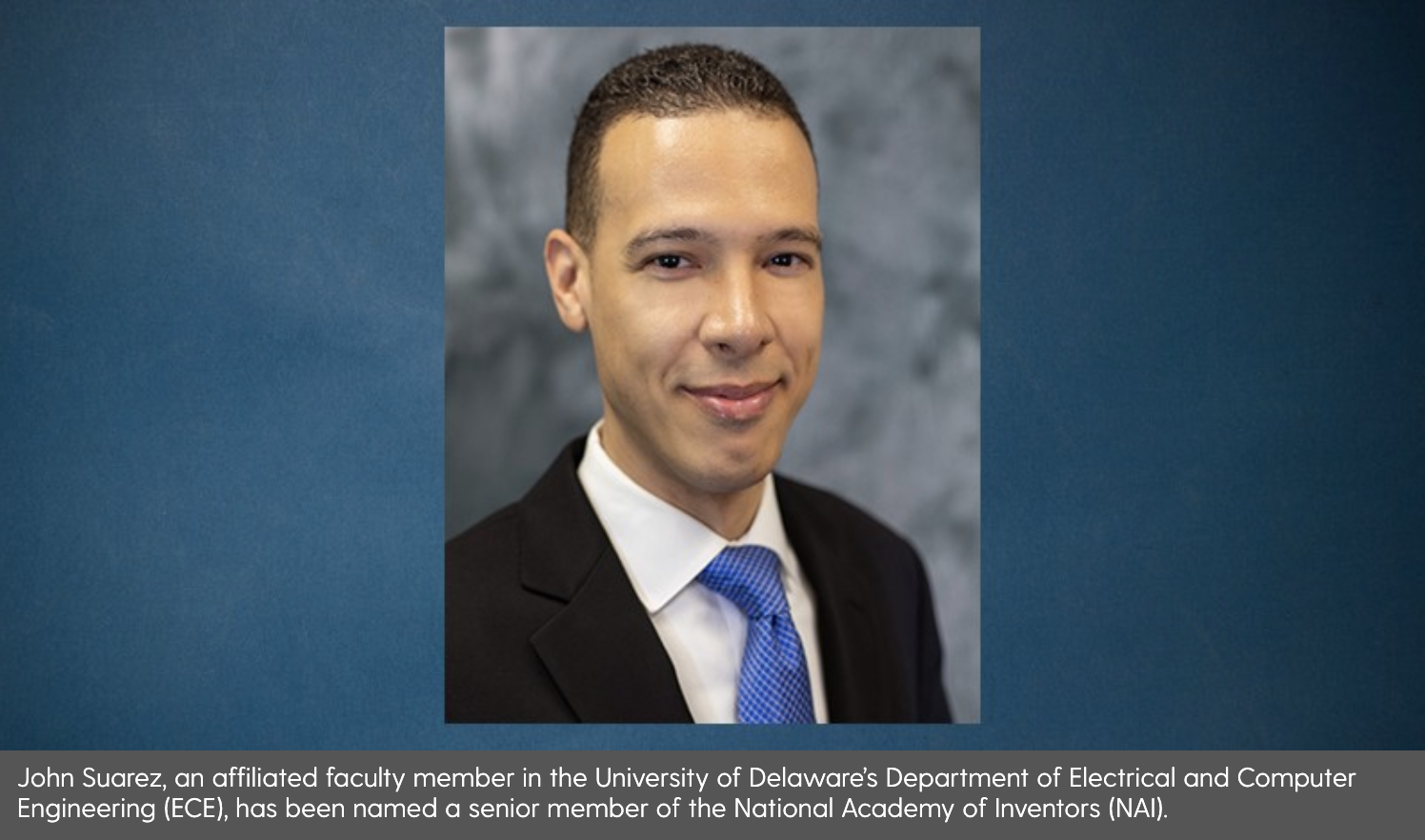National Academy of Inventors selects UD's John Suarez for senior membership